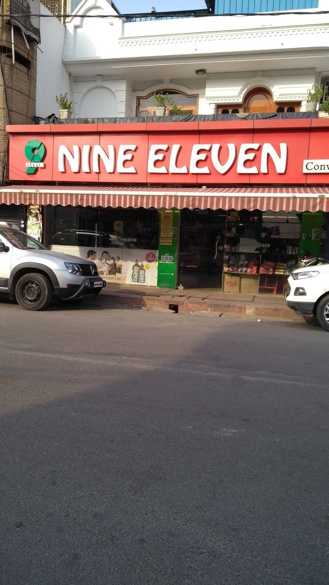 """""""Nine Eleven"""" sign of store ripping off """"Seven Eleven"""" chain"""