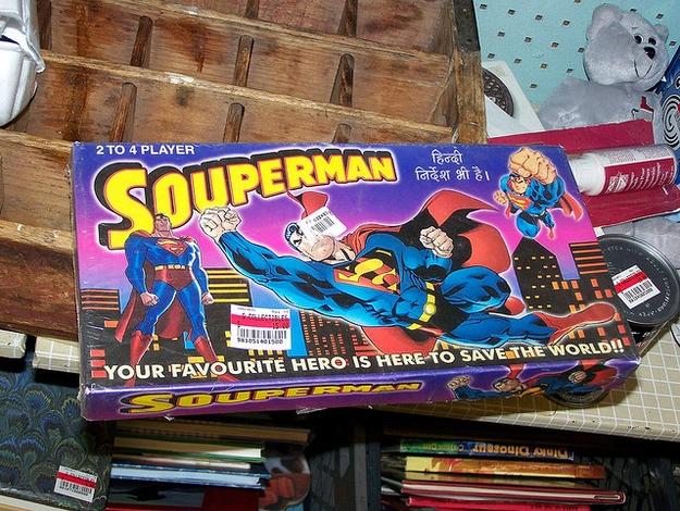 Superman knockoff character named Souperman