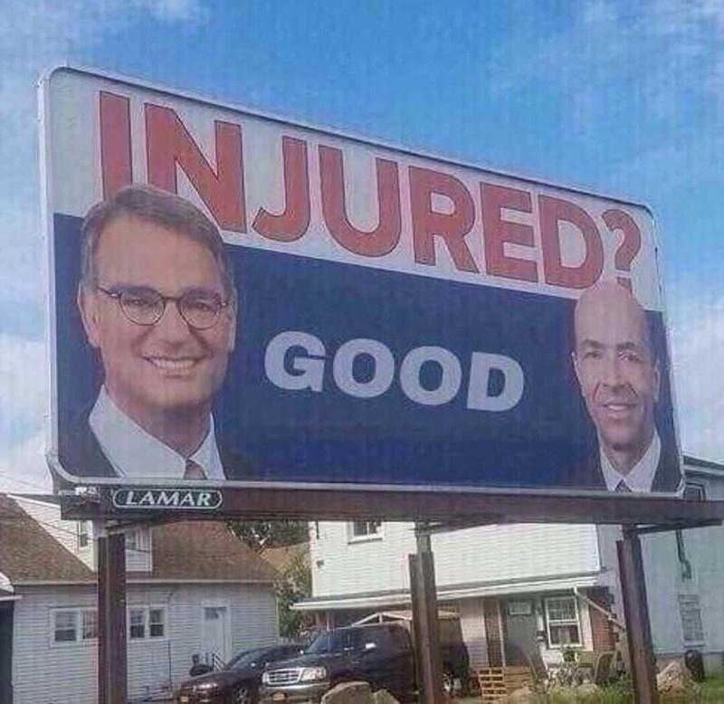 meme about cellino and barnes billborad saying injured? and the response is good