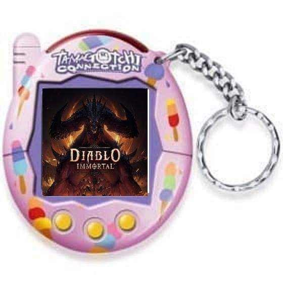 Diablo Immortal meme about the game getting released for the Tamagotchi