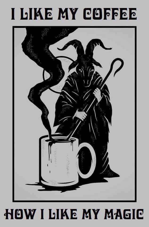 goth witch meme about liking your coffee being dark like your magic