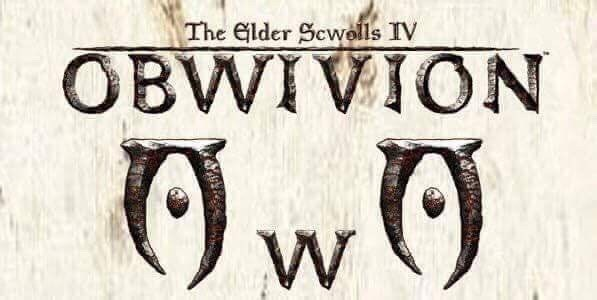 The Elder Scrolls IV Oblivion with all the Ls replaced by Ws and uwu face