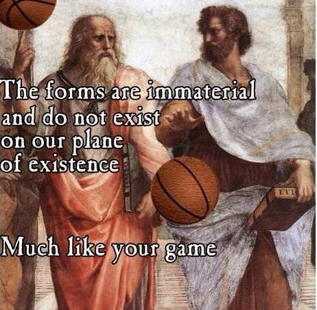 philosophy of Plato meme about basketball