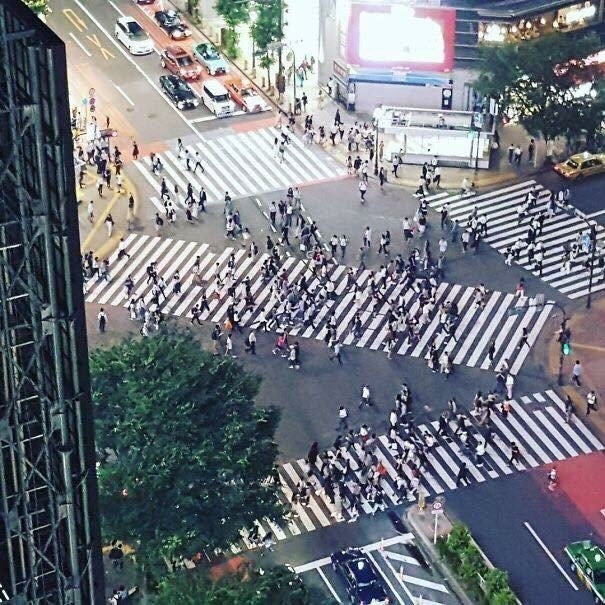 pic of busy cross section in Japan