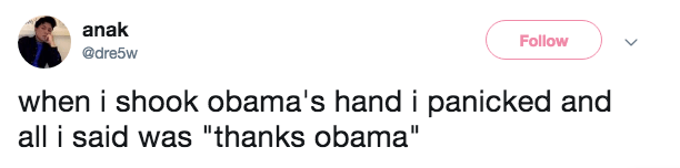 tweet post about meeting Obama and getting nervous