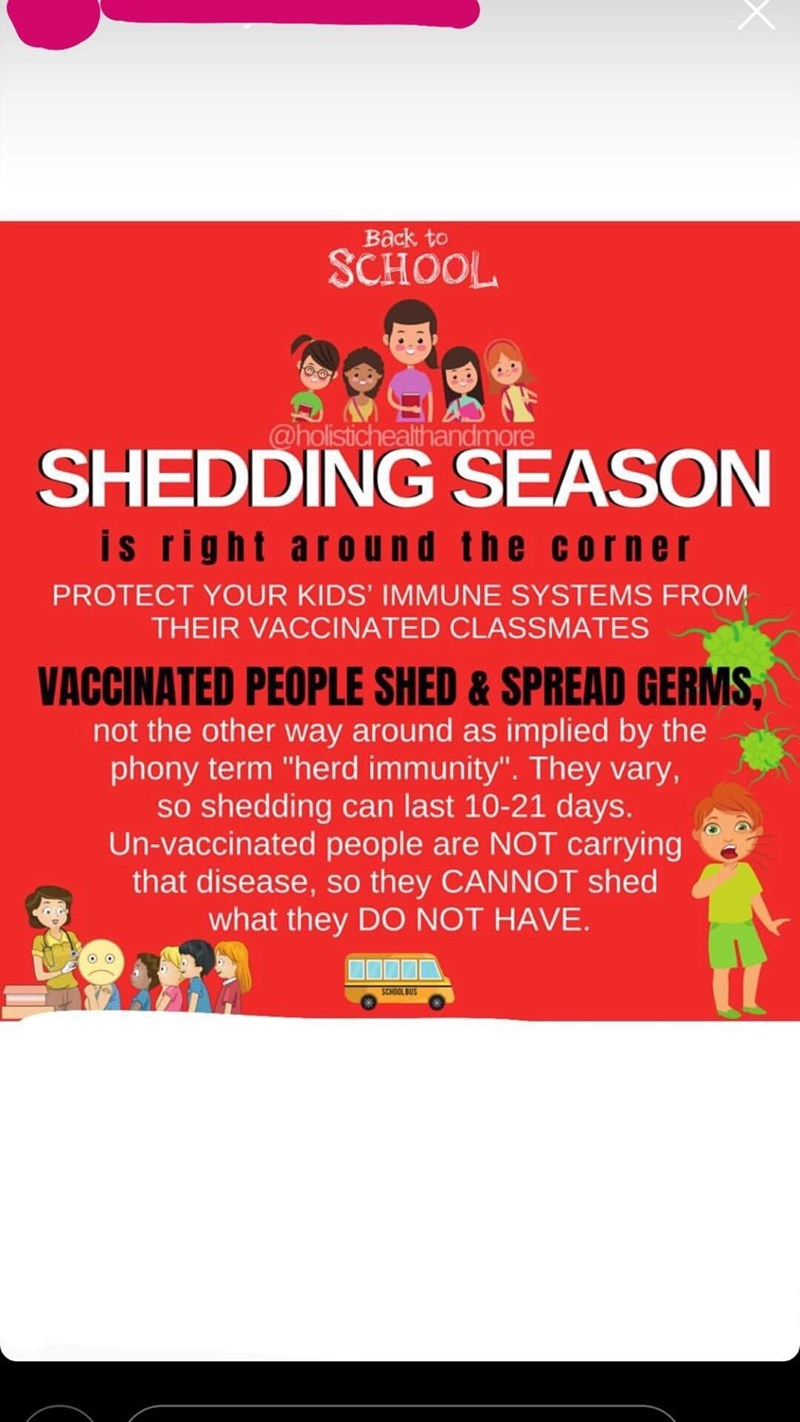 post warning anti vaxx parents of diseases spread by vaccinated children