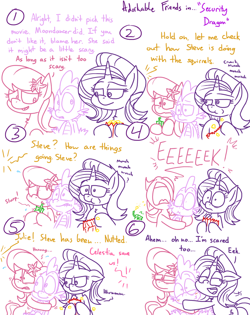 spike shipping lily valley starlight glimmer comic adorkable twilight and friends - 9236064000