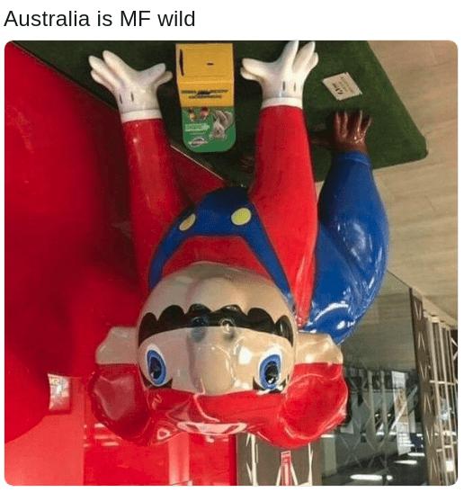 Australian upside down Mario