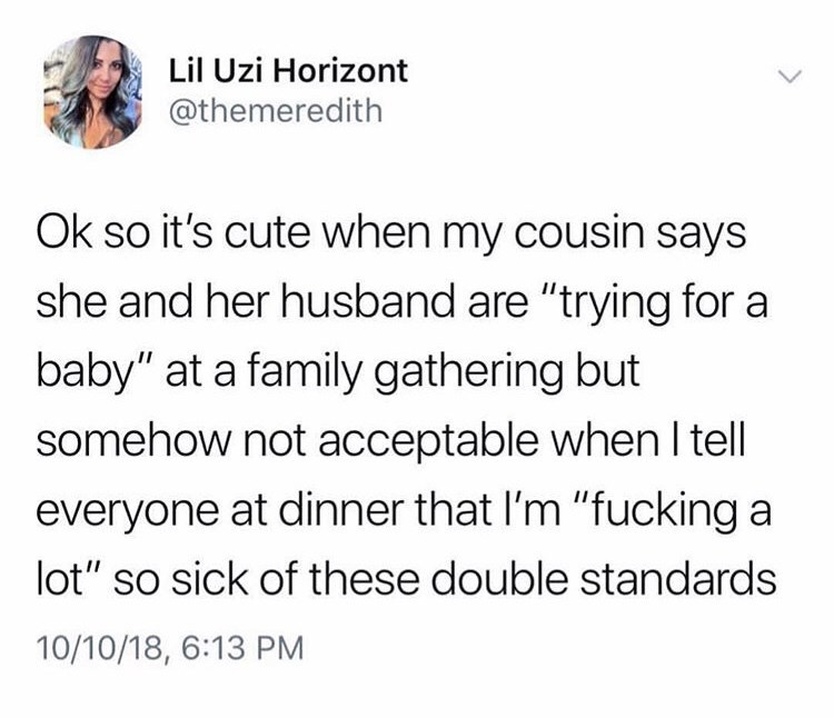 tweet post about saying 'i'm fucking a lot' at family dinners are unacceptable