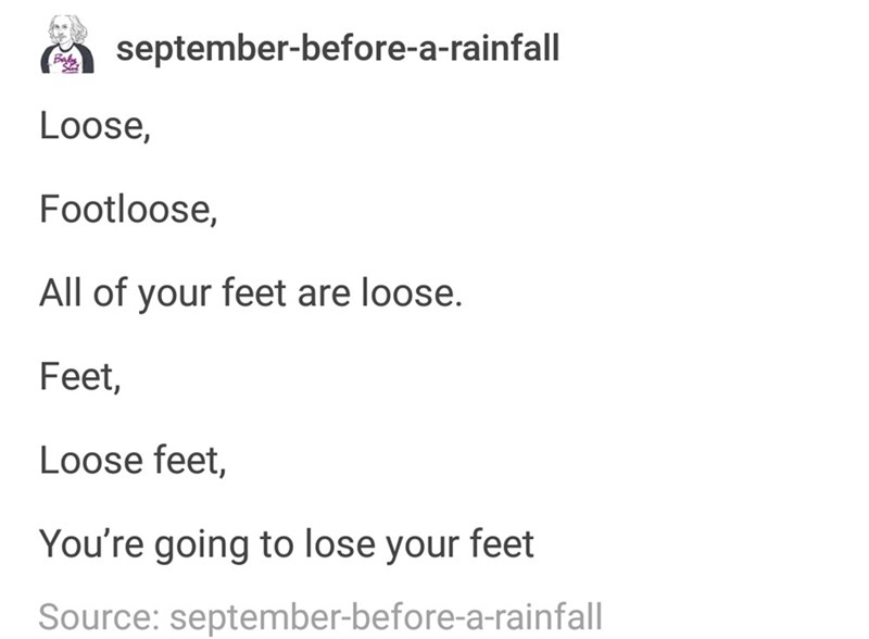 meme about Footloose and the wrong lyrics