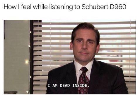 The Office meme about Schubert D960 making you feel dead inside