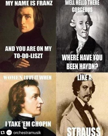 puns about the names of different classical music composers