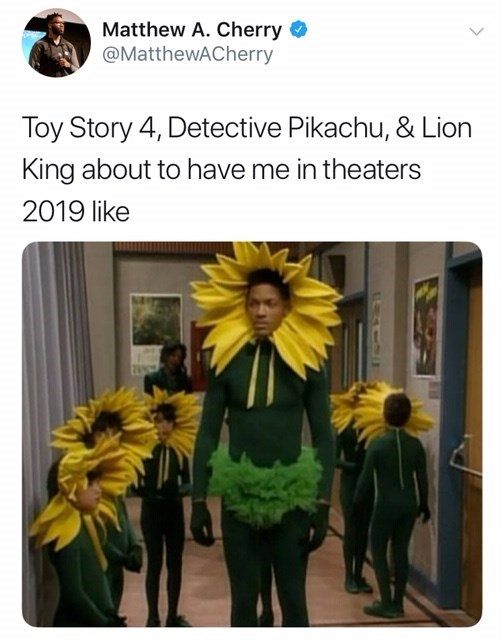 Detective Pikachu meme excited about all the new movies in 2019
