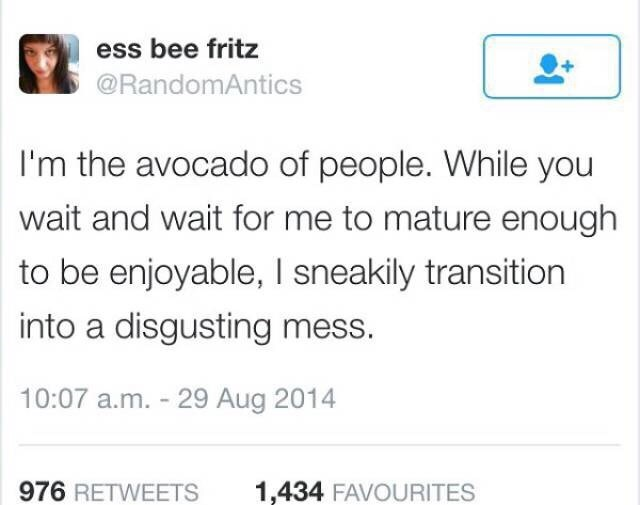 meme about being the avocado of people