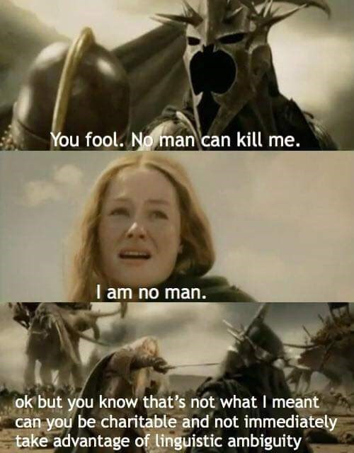 meme about calling a woman a man and she corrects him