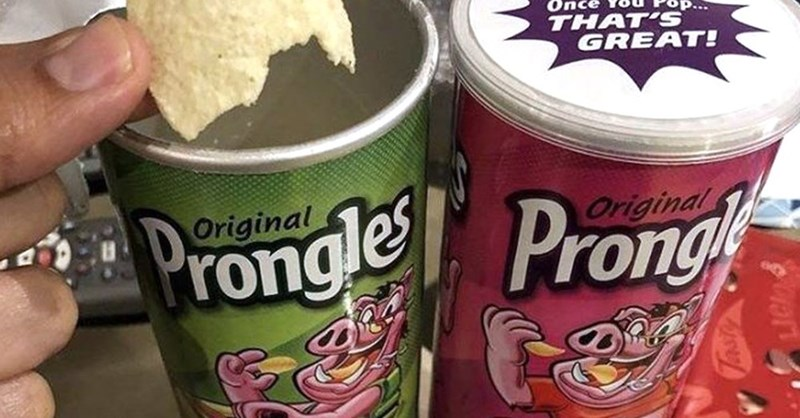 "meme about off brand names ""Pringles"" to ""Prongles"""