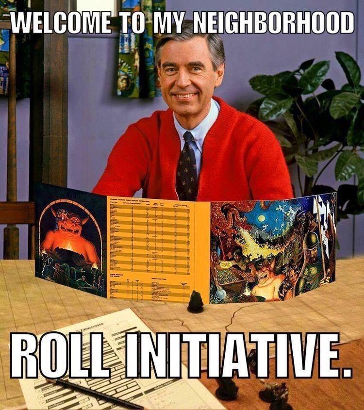meme image about Mr. Rogers saying welcome to my neighborhood