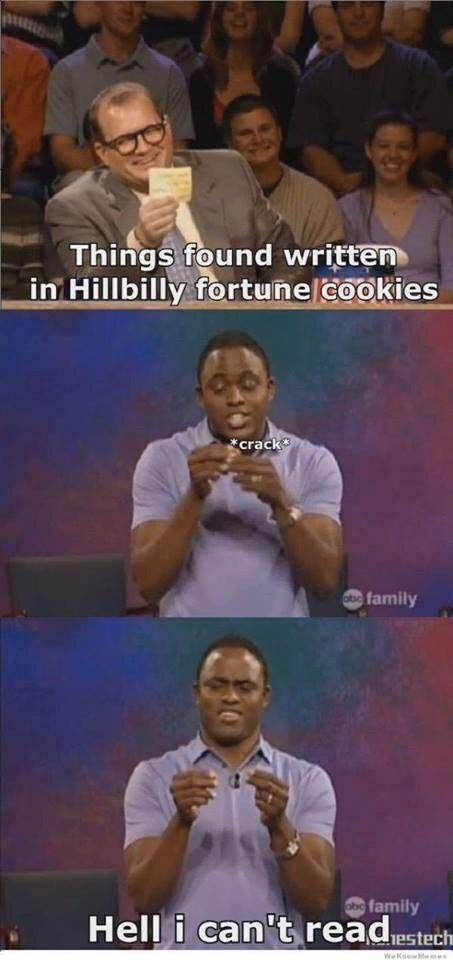 meme image about Hillbilly fortune cookies