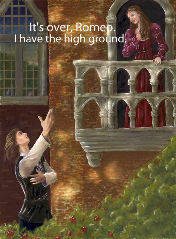 meme - Adventure game - It's over, Romep. I have the high ground