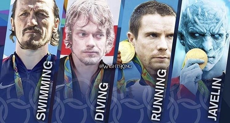 GoT meme showing different characters as Olympic athletes
