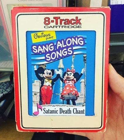 fake Disney cassette of satanic songs for children
