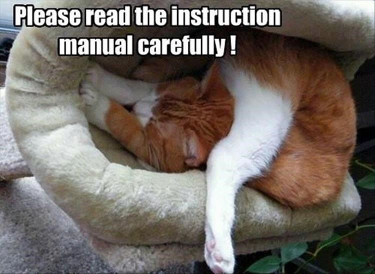 Caturday meme about assembling your cat wrong
