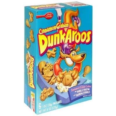 Breakfast cereal - Cinnamon Graneam DunkAroos Cleamon Cru C RLI 6 O2 1261 CKAGES NET WT OZD70 Roonu