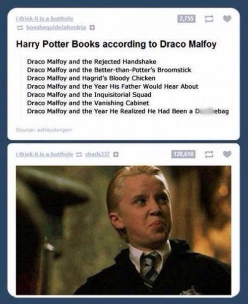 harry potter meme about draco malfoy