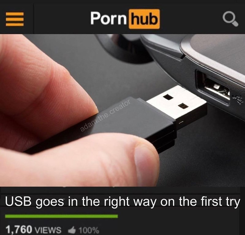 Funny meme about USB ports