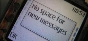 Text - 08:53 NO space for new messages OK