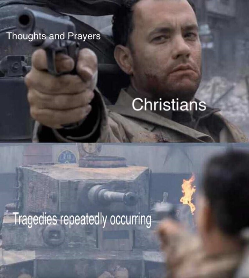 Forehead - Thoughts and Prayers Christians Tragedies repeatedly occurring