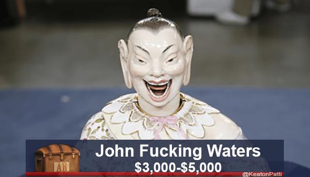Facial expression - John Fucking Waters $3,000-$5,000 AR @KeatonPatti