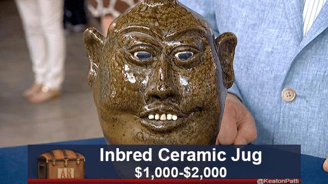 Face - Inbred Ceramic Jug $1,000-$2,000 AR @KeatonPatti