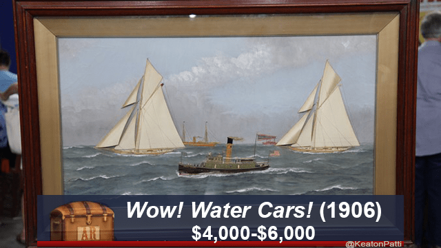 Sailing - Wow! Water Cars! (1906) $4,000-$6,000 @KeatonPatti