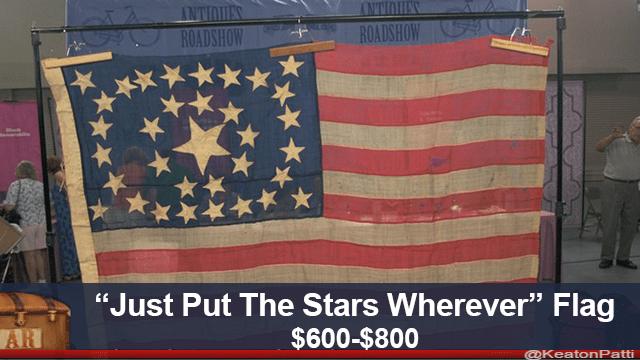 "Flag - ROADSHOW ROADSHOW ""Just Put The Stars Wherever"" Flag $600-$800 AR @KeatonPatti"
