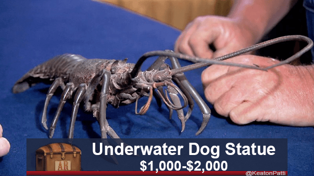 American lobster - Underwater Dog Statue $1,000-$2,000 AR @KeatonPatti