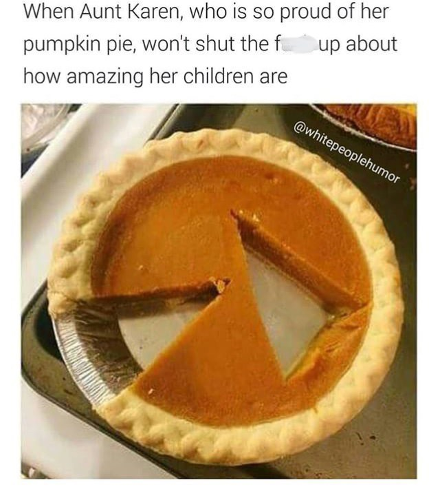 meme about eating a pie by cutting a piece in the center