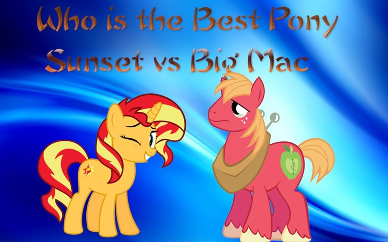 equestria girls Big Macintosh sunset shimmer best pony - 9238381824