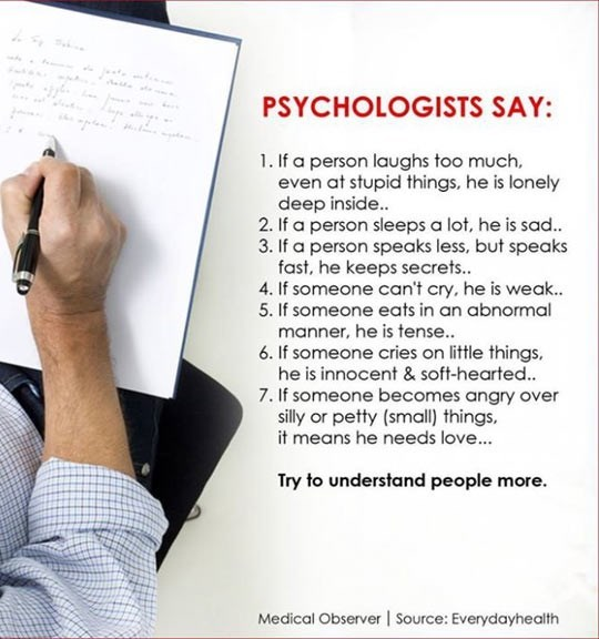 list of signs of mental distress given by psychologists