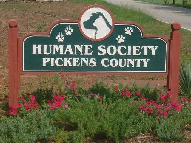 Sign - HUMANE SOCIETY PICKENS COUNTY