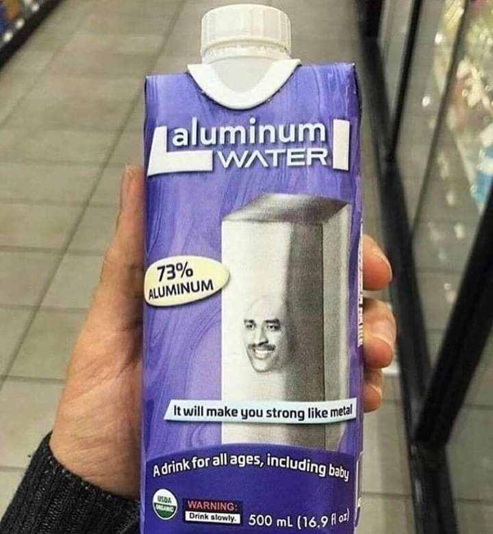 cursed image of aluminium water carton for all ages that will make you strong like metal