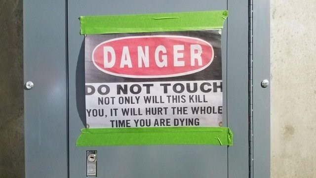 Font - DANGER DO NOT TOUCH NOT ONLY WILL THIS KILL YOU, IT WILL HURT THE WHOLE TIME YOU ARE DYING