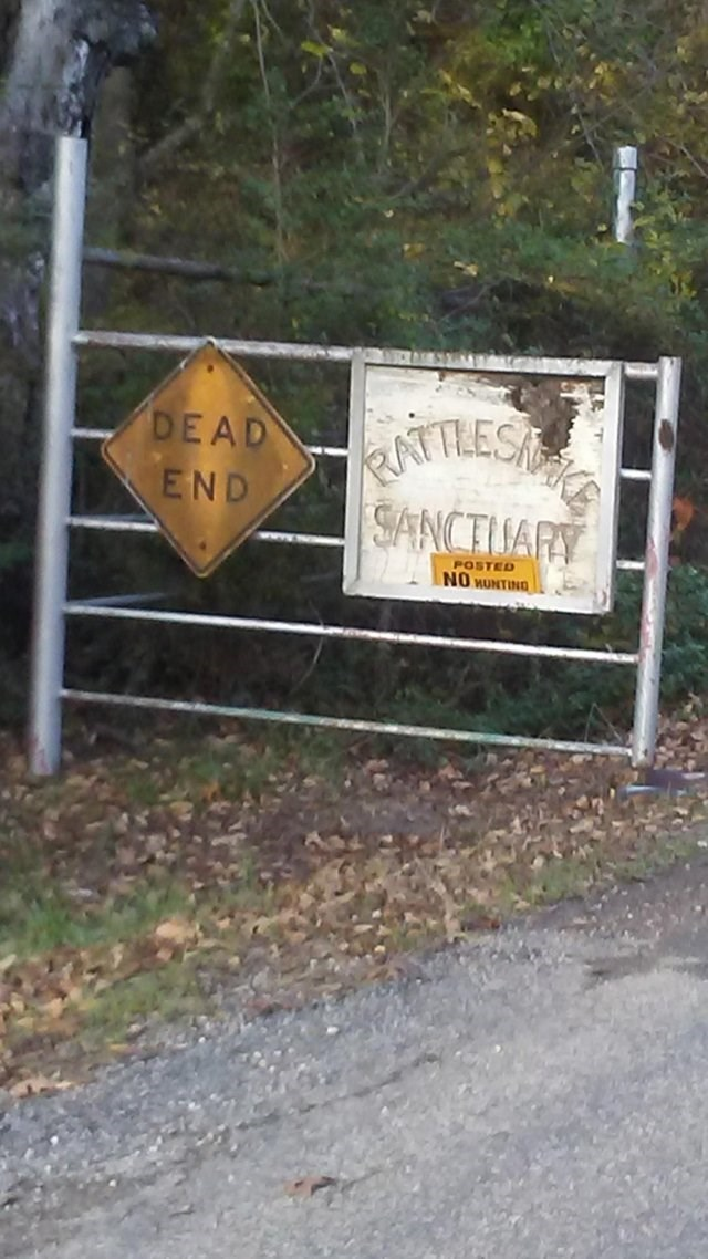 Sign - TREST SANCTUARY DEAD END POSTED NO HUNTING