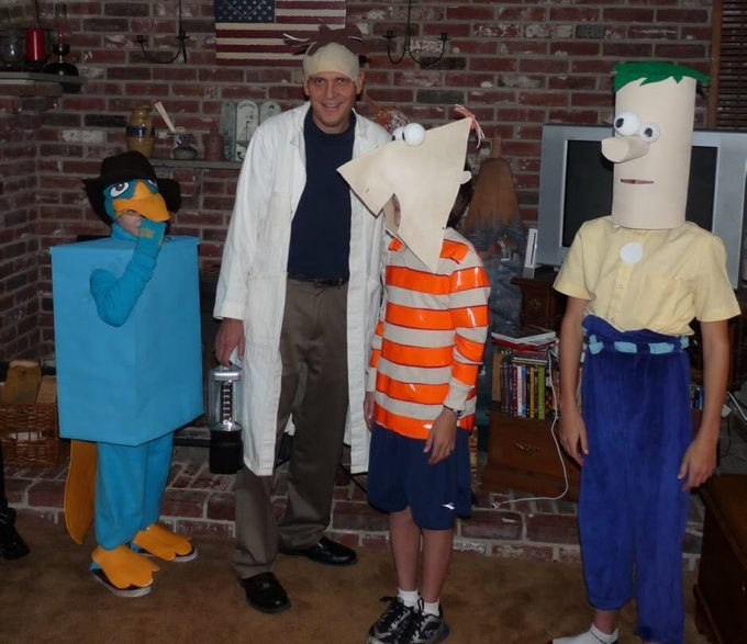 cursed image - Costume phineas and ferb