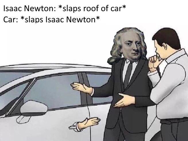 meme about issan newton in slap this boy meme