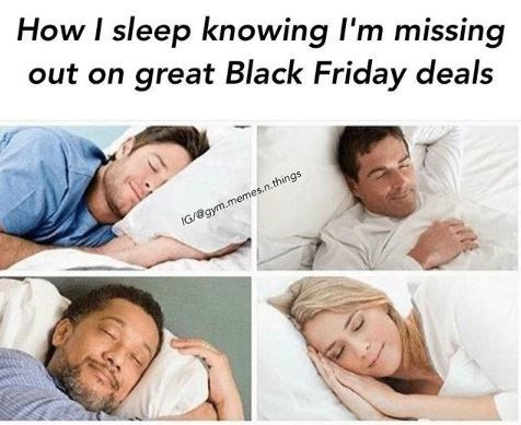 meme about not caring that you're missing black friday deals