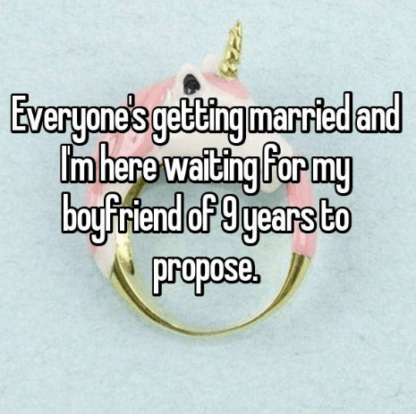 Text - Everyane's gelting manvied and Imhere waiting for my boyfriend of 9 years Co propose. arriec