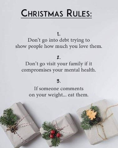 post about Christmas rules and how to deal with people