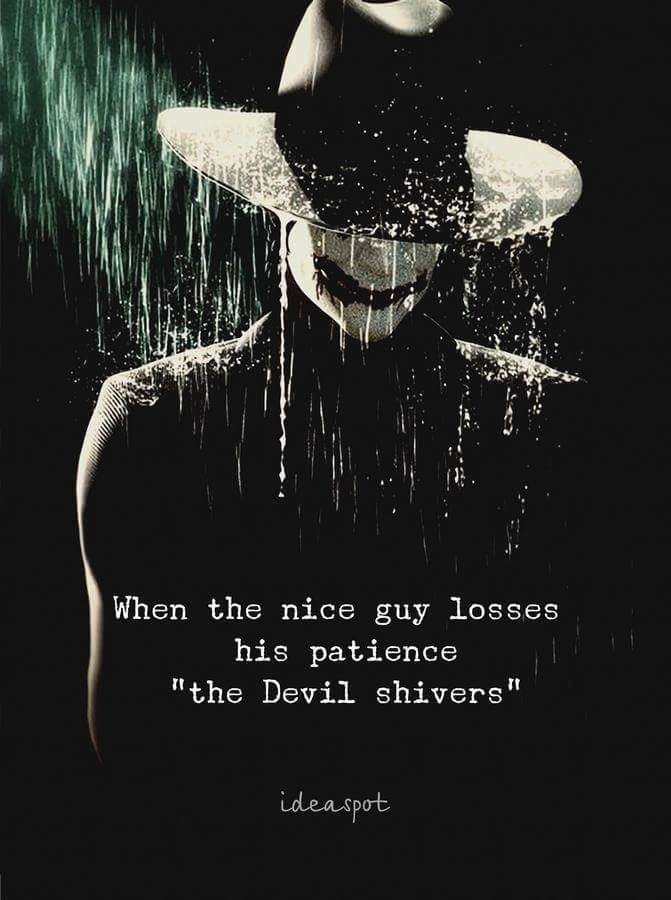 nice guy meme with dramatic picture of man in Joker makeup and fedora standing in the rain