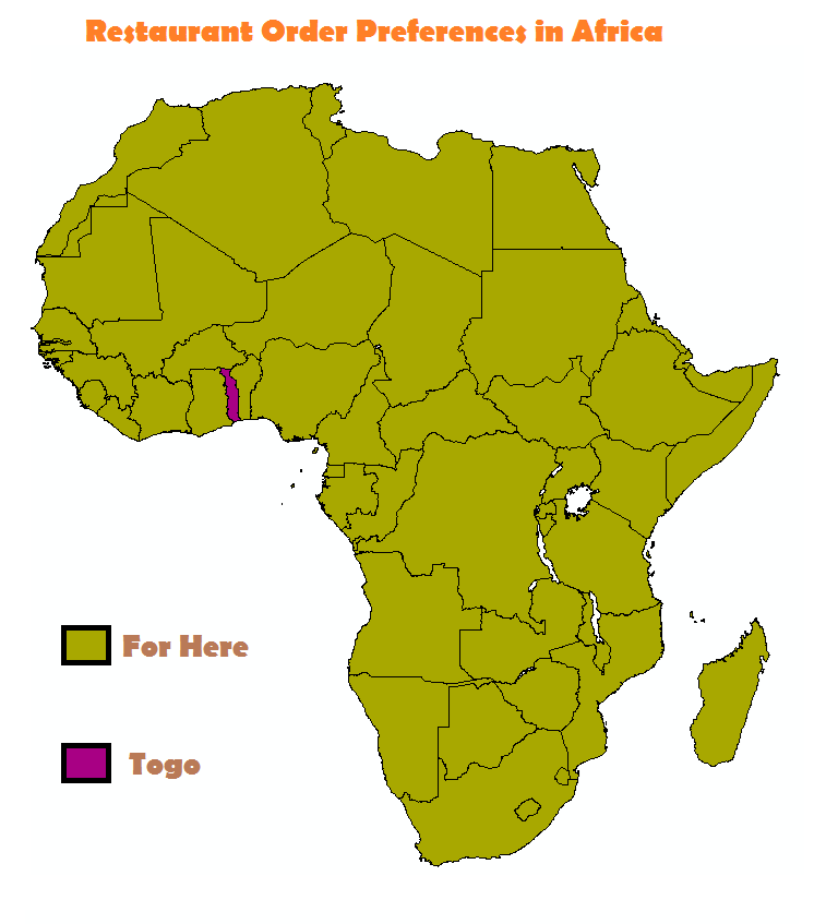 meme about restaurant order preferences in Africa